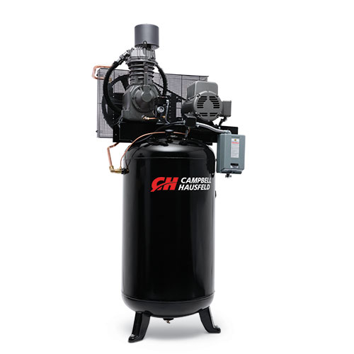 Campbell Hausfeld Air Compressor, 80-Gallon Fully Packaged Vertical Two-Stage 25CFM 7.5HP 208-230V 1PH (CE7000FP) product image center