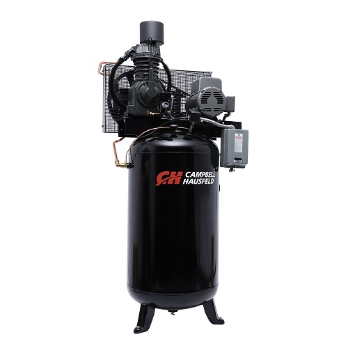 Campbell Hausfeld Air Compressor, 80-Gallon Fully Packaged Vertical Two-Stage 25CFM 7.5HP 208-230V 1PH (CE7000FP) product image right