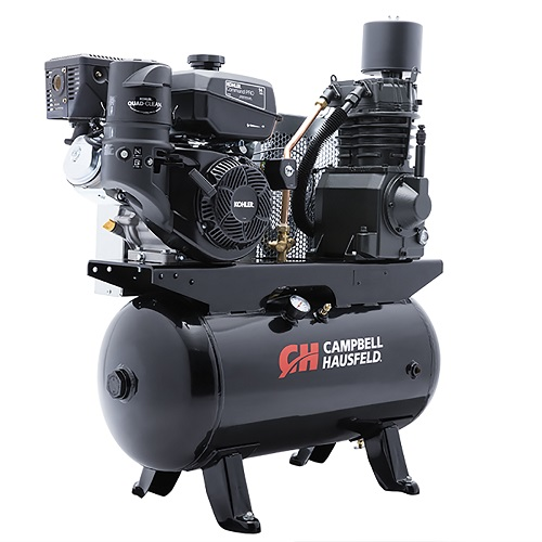 Campbell Hausfeld Air Compressor, 30-Gallon Horizontal Two-Stage 26.1CFM CH440 Kohler (CE7002) product image right angle