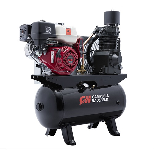 Campbell Hausfeld Air Compressor, 30-Gallon Horizontal Two-Stage 26.1CFM GX390 Honda (CE7003) product image right angle