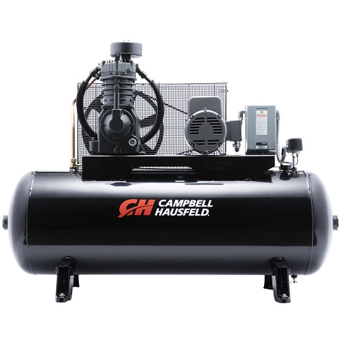 Campbell Hausfeld Air Compressor, 80-Gallon Horizontal Two-Stage 25CFM 7.5HP 208-230V 1PH (CE7005) product image center