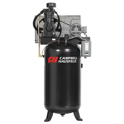 Campbell Hausfeld Air Compressor, 80-Gallon Vertical Two-Stage 17.2CFM 5HP 208-230V 1PH (CE7050) product image center