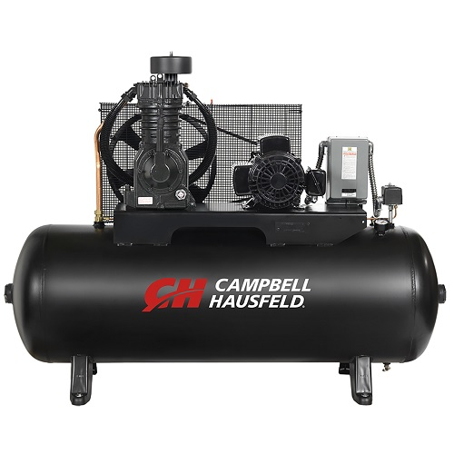 Campbell Hausfeld Air Compressor, 80-Gallon Horizontal Two-Stage 17.2CFM 5HP 208-230/460V 3PH (CE7053) product image center