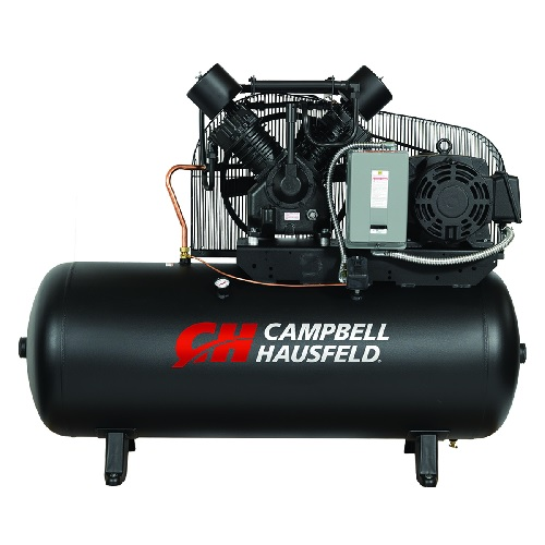 Campbell Hausfeld Air Compressor, 120-Gallon Horizontal Two-Stage 52.4CFM 15HP 208-230/460V 3PH (CE8003) product image center