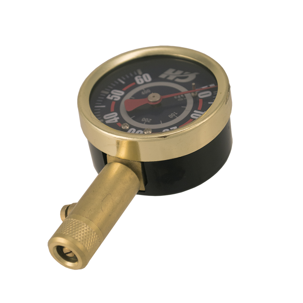 Shrader Tire Gauge, 0-60 PSI (DA552400) angle view