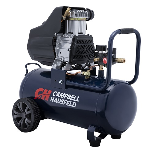 Campbell Hausfeld Air Compressor, 8-Gallon Horizontal Oilless 3.7 CFM 1.3HP 120V 10A (DC080100) product image left angle