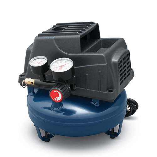 Portable Air Compressor, 1-Gallon Pancake Oilless .36 CFM .33HP 120V 3A (FP2028), product image left