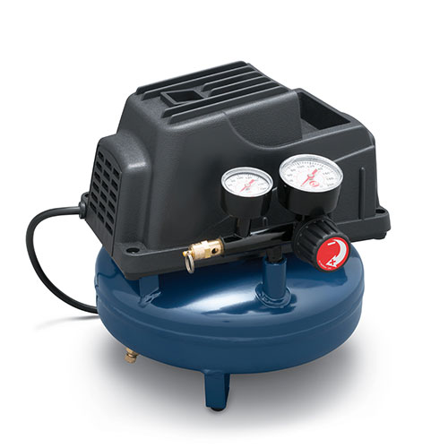 Portable Air Compressor, 1-Gallon Pancake Oilless .36 CFM .33HP 120V 3A (FP2028), product image right