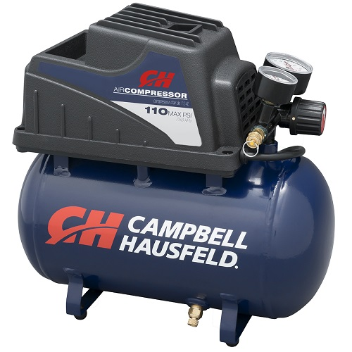 Campbell Hausfeld Air Compressor, 2-Gallon Hot Dog Oilless .36 CFM .33HP 120V 3A (FP209000AV) product image right