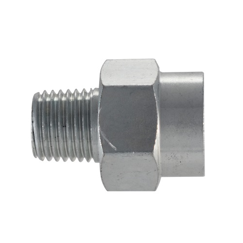 "Campbell Hausfeld 3/8"" Female NPT-1/4"" Male NPT Adapter (PA111400AV) product image side"