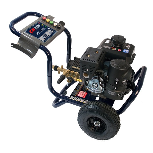 Gas Powered Pressure Washer, 3400 PSI, 2.5 GPM, Tri-Plex Pump, Kohler CH270 (PW340200) product image side view