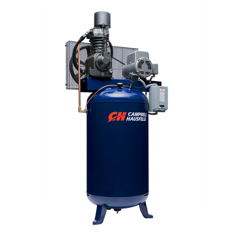 Campbell Hausfeld Air Compressor, 80 Gallon Vertical Two Stage 25CFM 7.5HP 208-230V 1PH (TF211201AJ) product image left angle