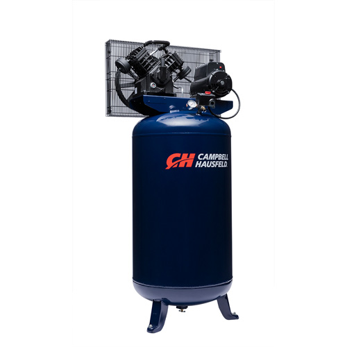 Campbell Hausfeld Air Compressor, 80-Gallon Vertical Single-Stage 16CFM 5HP 208-230V 1PH (TQ3104) product image left angle