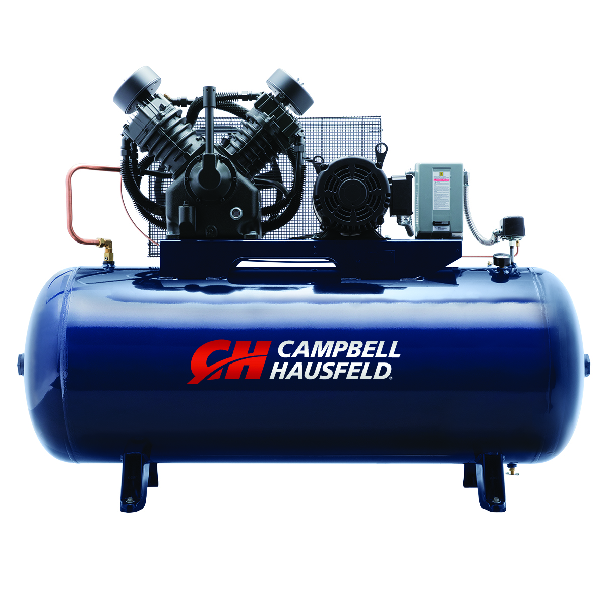 Air Compressor, 120-Gallon Horizontal Two-Stage 36CFM 10HP 208-230/460V 3PH (TX2113)