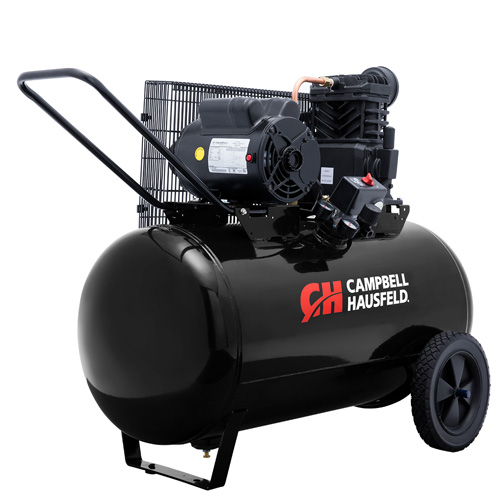 Campbell Hausfeld Air Compressor, 30-Gallon Horizontal Portable Single-Stage 10.2CFM 3.7HP 208-230V 1PH (VT6104) product image right