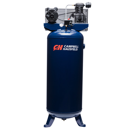 Campbell Hausfeld Air Compressor, 60-Gallon Vertical Single-Stage 10.2CFM 3.7HP 230V 1PH (VT6195) product image center