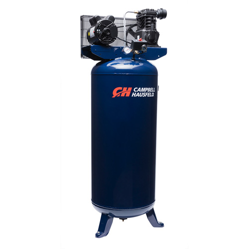 Campbell Hausfeld Air Compressor, 60-Gallon Vertical Single-Stage 10.2CFM 3.7HP 230V 1PH (VT6195) product image left angle