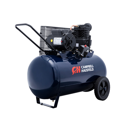 Campbell Hausfeld Air Compressor, 30-Gallon Horizontal Portable Single-Stage 10.2CFM 3.7HP 208-230V 1PH (VT6271) product image right angle