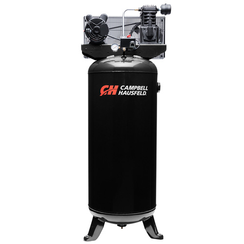 Campbell Hausfeld Air Compressor, 60-Gallon Vertical Single-Stage 10.2CFM 3.7HP 230V 1PH (VT6395) product image center