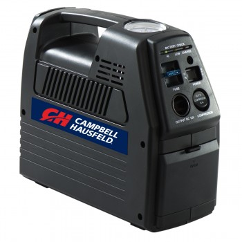 Campbell Hausfeld Cordless Rechargeable Inflator with 12-Volt Power Outlet (CC2300) product image left angle