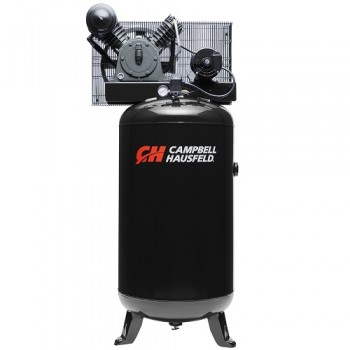 Campbell Hausfeld Air Compressor, 80-Gallon Vertical Two-Stage 14CFM 5HP 208-230V 3PH (CE3001) product image center