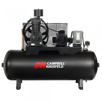 Campbell Hausfeld Air Compressor, 80-Gallon Horizontal Two-Stage 25CFM 7.5HP 208-230/460V 3PH (CE7006) product image center