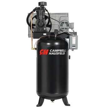 Campbell Hausfeld Air Compressor, 80-Gallon Vertical Two-Stage 17.2CFM 5HP 208-230/460V 3PH (CE7051) product image center