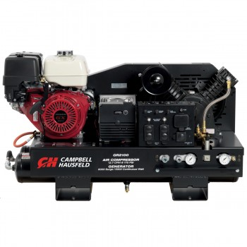 Campbell Hausfeld Combination Unit, 10-Gallon 14CFM Compressor 5000W Generator GX390 Honda (GR2100) product image center