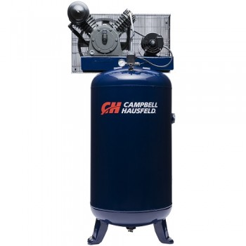 Campbell Hausfeld Air Compressor, 80-Gallon Vertical Two Stage 14CFM 5HP 208-230V 3PH (HS5380) product image center
