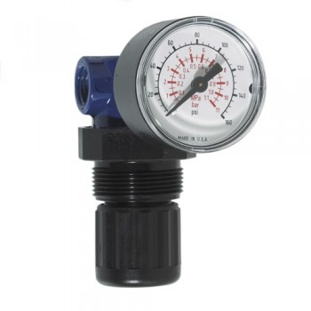 "Campbell Hausfeld Regulator with Gauge - 1/4"" NPT (MP514803AV) product image left angle"