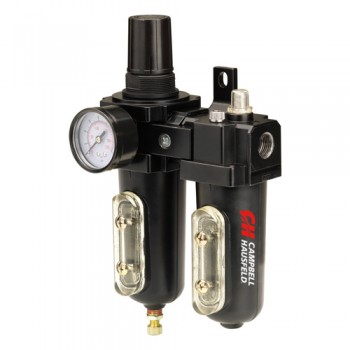 "Campbell Hausfeld Filter/Regulator/Lubricator 1/2"" NPT (PA211400AV) product image left angle"