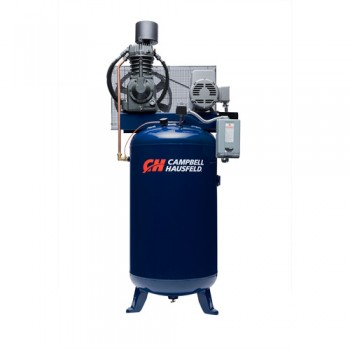 Campbell Hausfeld Air Compressor, 80 Gallon Vertical Two Stage 25CFM 7.5HP 208-230V 1PH (TF211201AJ) product image center
